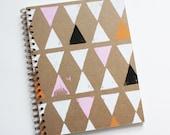 triangle notebook no. 2 ... white, pink, orange, and black on kraft