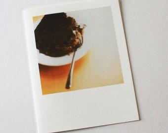 chocolate cake polaroid card
