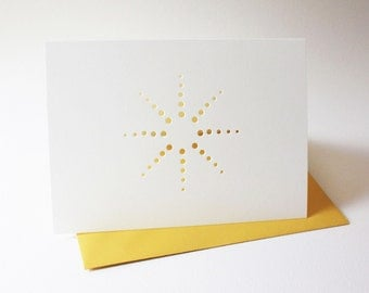 burst design cards ... set of 3 blank cards