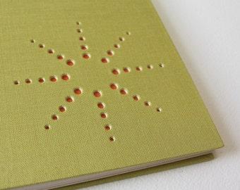burst design blank journal ... chartreuse