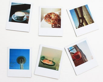 "seattle ""instant film"" magnets ... set of 6 magnets"