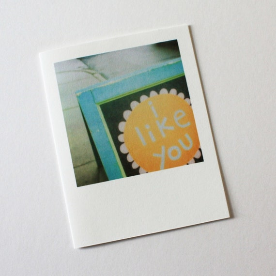 "i like you ""instant film"" card"