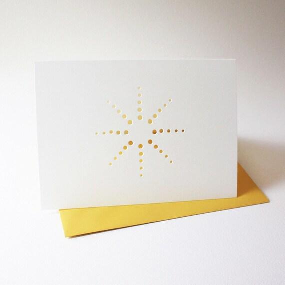 burst design cards ... set of 3 blank cards