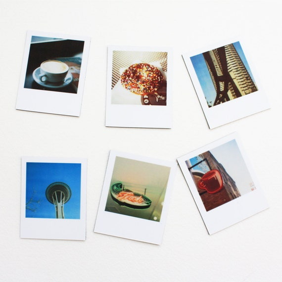 "seattle ""instant film"" magnets ... set of 6 magnets"