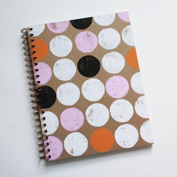 circle notebook no. 3 ... white, pink, orange, and black on kraft