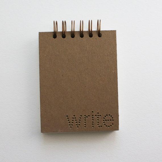 verb notebook : write