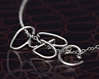 Handmade Sterling Silver Initial Necklace