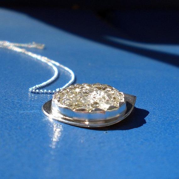 READY TO SHIP Handmade Tiny Bubbles Vintage Glass Pendant