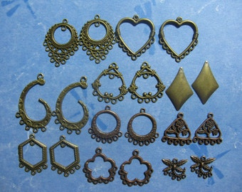 10 Sets Earring Drops  Jewelry Findings Assorted Lot 10BC