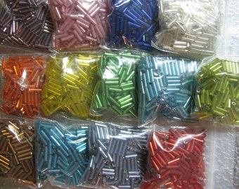 Bugle Bead 13 Color assortment package 200 of Each Color 2600 Beads