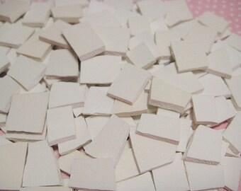 Broken China Mosaic Tiles - 150 ViNTaGE IVORY CHiNA TiLES MoSAiC FiLLERS - Plate Tiles