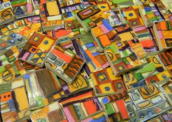 Broken China Mosaic Tiles - ArTSY MOD BRiLLiANT - China Plate Tiles