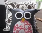 Owl Pillow - Ready to Ship