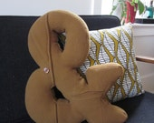 Ampersand Pillow - Reclaimed jacket - Made to order
