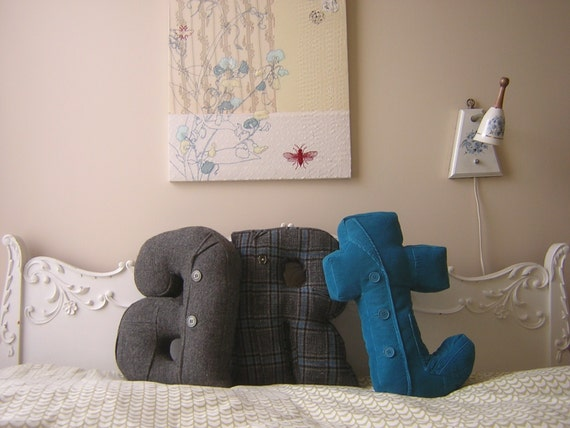 Alphabet pillows - custom