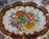 Vintage Daher Platter Oblong Floral
