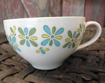 Vintage Retro Flowered Cup