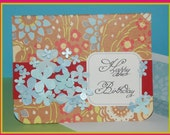 Happy Birthday Card Greetings Best Wishes Handmade Flowers
