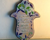 Hand-Drawn home blessing Hamsa