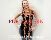 PDF Pattern for a Coral Scarf - Felted Crochet