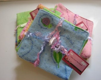 Adorable Boy and GIrl Baby Natural Wipes, Flannel Face Cloths, Soft Diaper Wipes