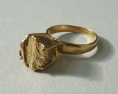 SALE Gold Plated Rockwell ring