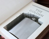 hollow book flask safe ''the golden argosy'' (flask included)