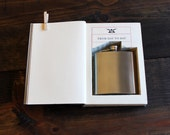 hollow book flask safe ''from day to day'' (flask included)