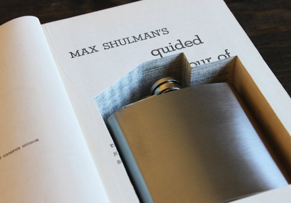 hollow book flask safe ''max schulman's guided tour of campus humor'' (flask included)