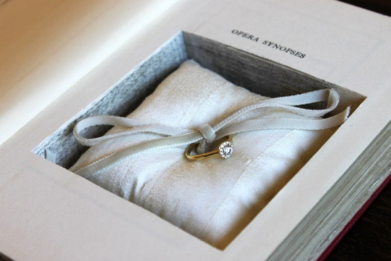 opera synopses - limited edition ring pillow book safe - ring bearer book safe
