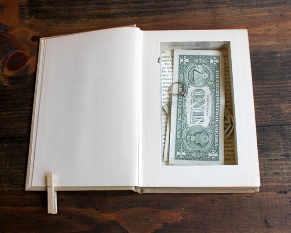 hollow book cash safe ''the gaunt woman'' - secret stash for your money - old book with hollow compartment inside