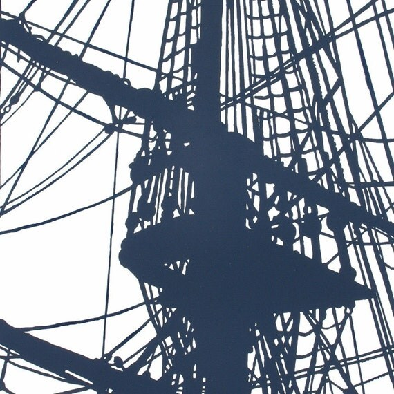 Set Sail - Limited Edition Silkscreen in Navy