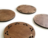 Coasters - Maple veneer - dark stained
