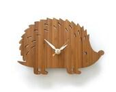 Wooden Hedgehog Clock, Modern Baby Wall Clock