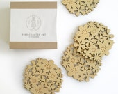 Flower Coasters Set of 4 - black friday, cyber monday sale