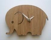 Modern Baby Clock - Elephant
