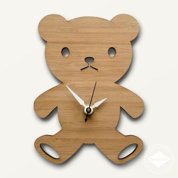 Modern Baby Clock - Bear