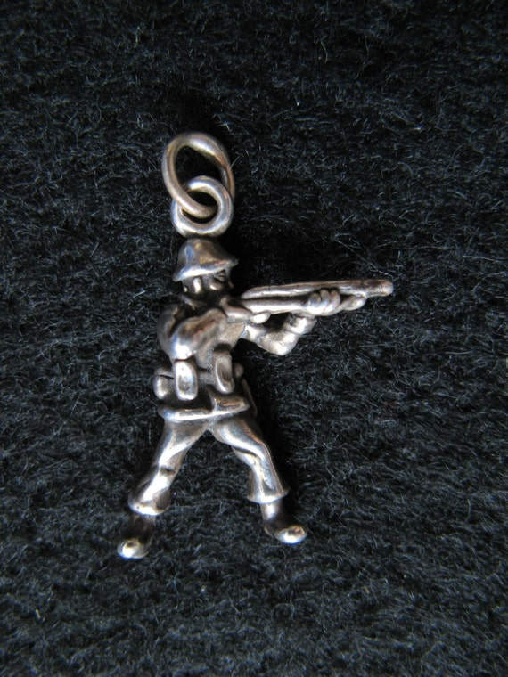 Sterling Silver Soldier Charm