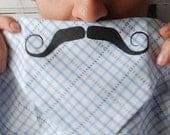 Mustache Handkerchief - Sailor Light Blue Plaid