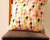 Multicolor Houndstooth Pillow Cover - Bright Colours Big City Living