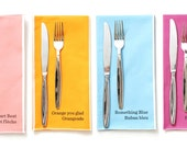 Dinner Napkins Large - Paint Chips Set of 4 - bright summer rainbow colours large size
