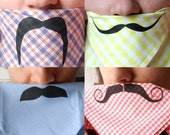 Mustache Handkerchiefs - Pop Of Color - Set of 4