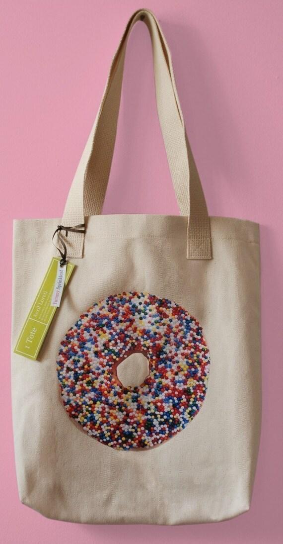 SALE - Sprinkles Hawaiian Donut - Canvas Market Tote