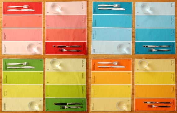 Placemats - Paint Chip Placemats - Set of 8