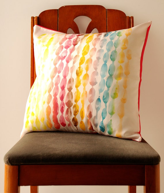 RESERVED FOR CAROLYN : Watercolor Dots Pillow Cover