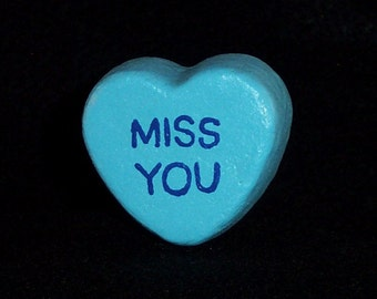 Miss You - Message Heart for Floral Arrangement/Cake Topper