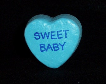 Sweet Baby - Message Heart for Floral Arrangement/Cake Topper