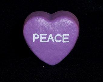 Peace - Message Heart for Floral Arrangement/Cake Topper