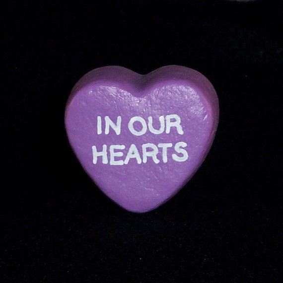 In Our Hearts - Message Heart for Floral Arrangement/Cake Topper