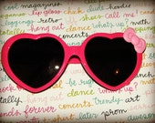 Heart Sunglasses with Bow
